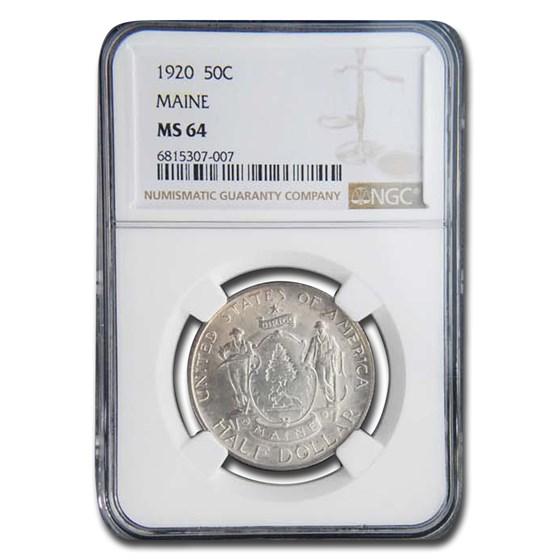 1920 Maine Centennial Half Dollar Half Dollar MS-64 NGC