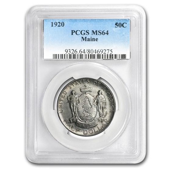 1920 Maine Half Dollar MS-64 PCGS