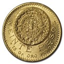 1920 Mexico Gold 20 Pesos BU