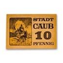 (1920) Notgeld Caub 10 Pfennig CU (Tan)