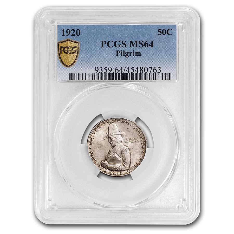 1920 Pilgrim Tercentenary Half Dollar MS-64 PCGS