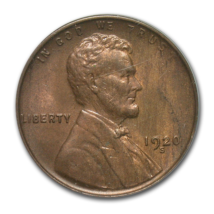 1920-S Lincoln Cent MS-63 PCGS (Brown)