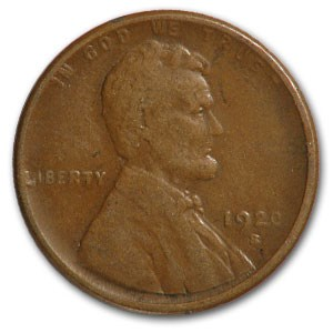 1920-S Lincoln Cent VF