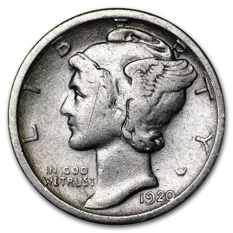 1920-S Mercury Dime Fine