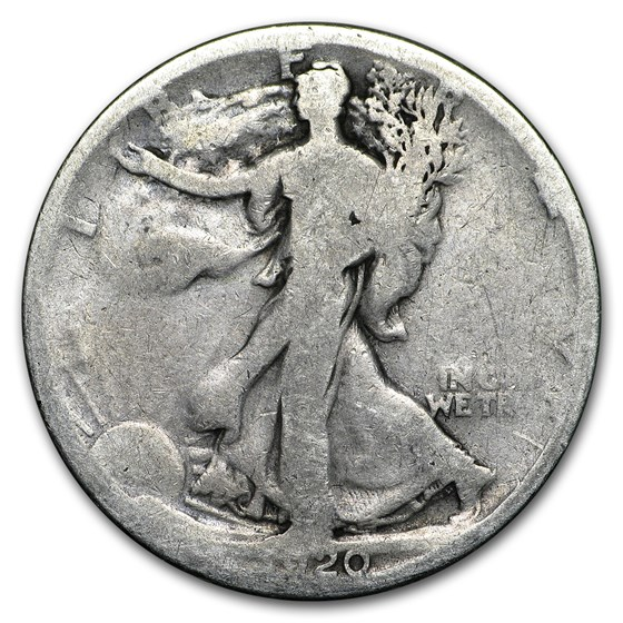 1920-S Walking Liberty Half Dollar AG
