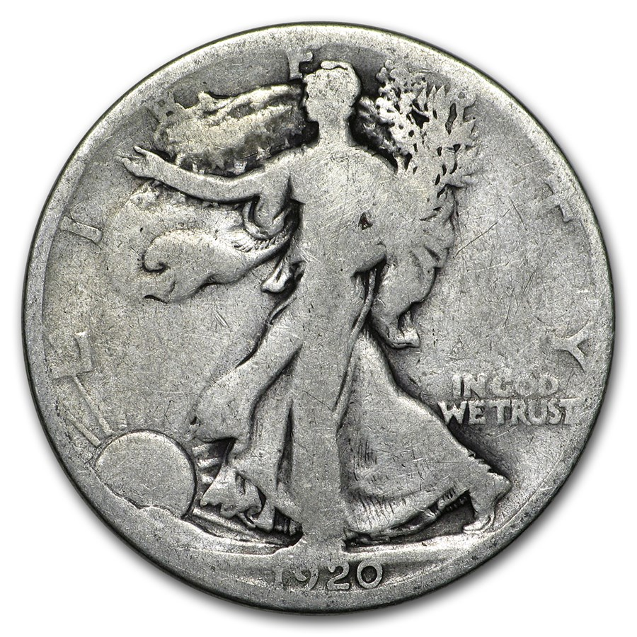 1920-S Walking Liberty Half Dollar Good/VG