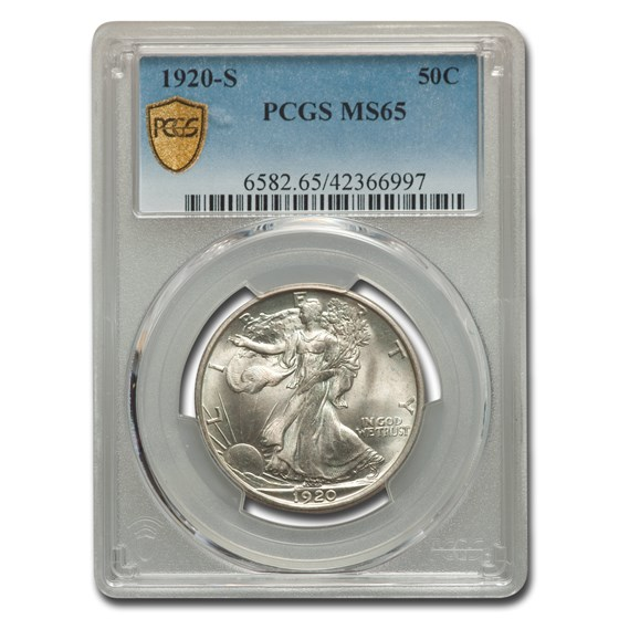 1920-S Walking Liberty Half Dollar MS-65 PCGS