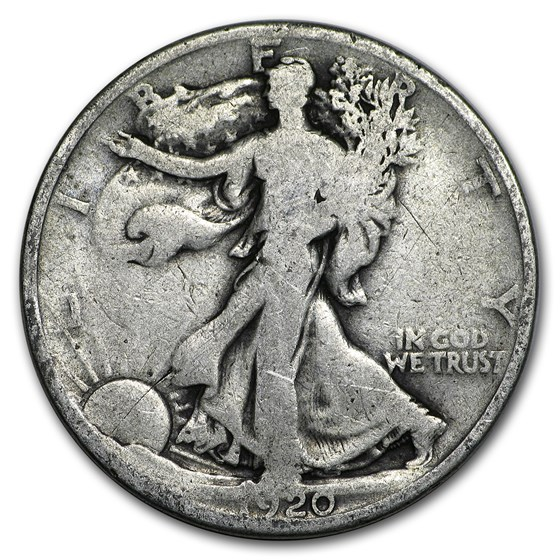 1920 Walking Liberty Half Dollar AG