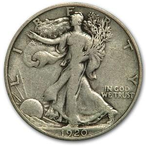 1920 Walking Liberty Half Dollar Fine