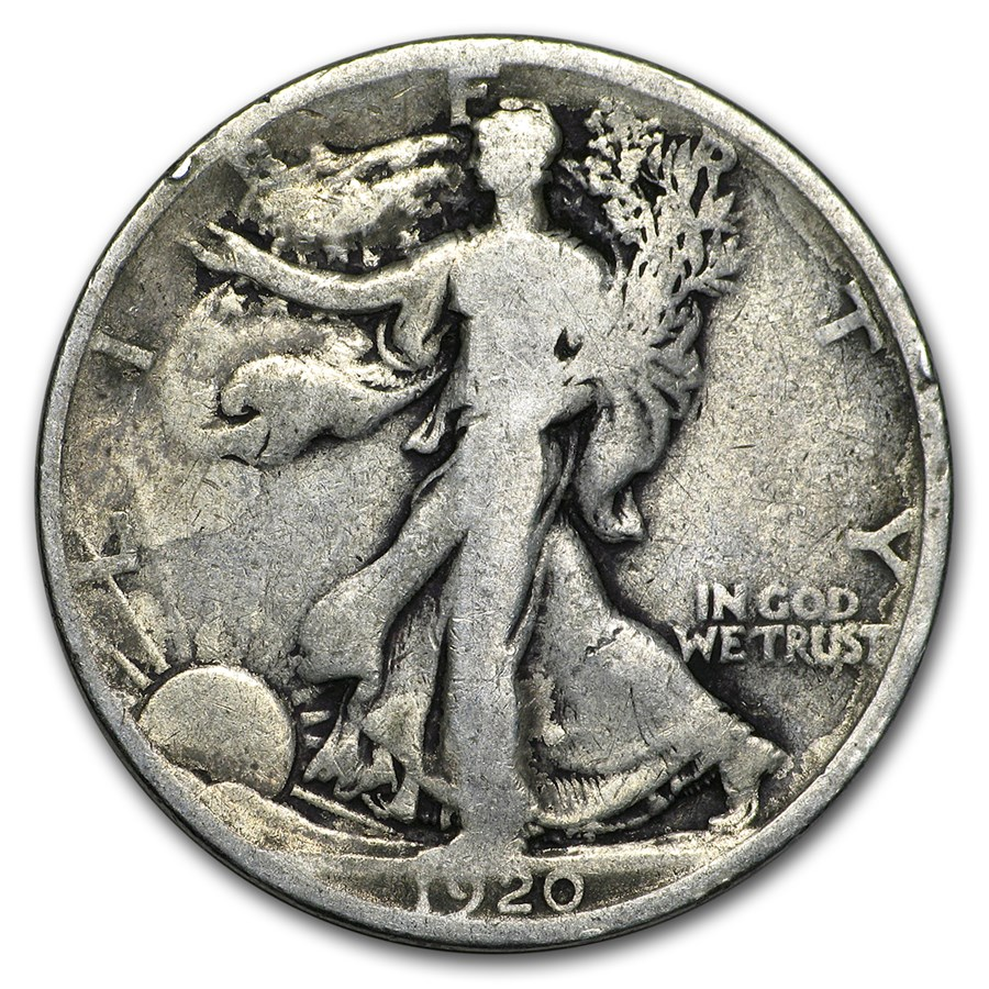 1920 Walking Liberty Half Dollar Good/VG