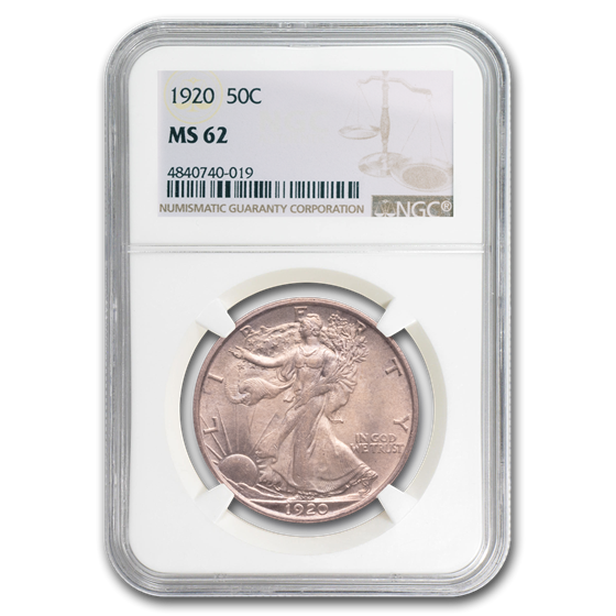1920 Walking Liberty Half Dollar MS-62 NGC