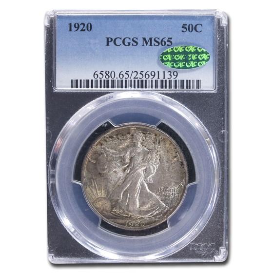 1920 Walking Liberty Half Dollar MS-65 PCGS CAC
