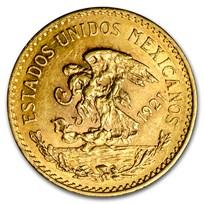 1921/11 Mexico Gold 20 Pesos AU