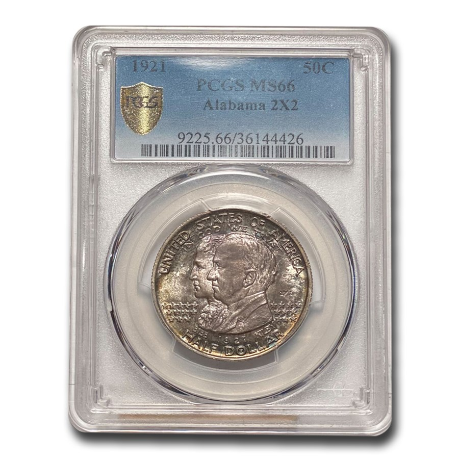 1921 2X2 Alabama Centennial Half Dollar Commem MS-66 PCGS
