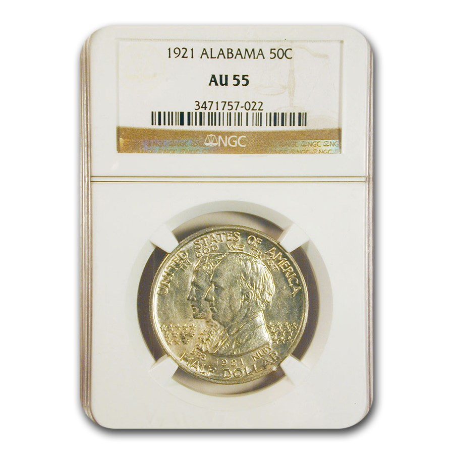 1921 Alabama Centennial Commemorative Half Dollar AU-55 NGC