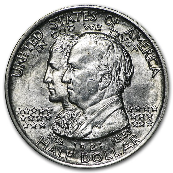 1921 Alabama Centennial Half Commemorative BU