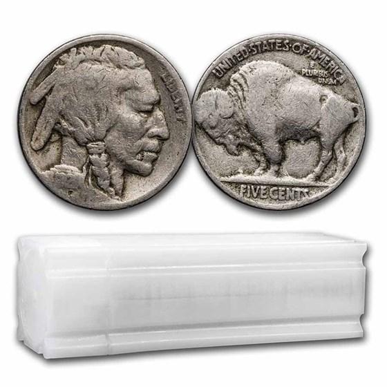 1921 Buffalo Nickel 40-Coin Roll Avg Circ