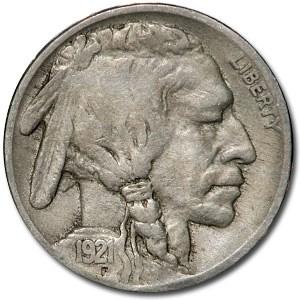1921 Buffalo Nickel Fine