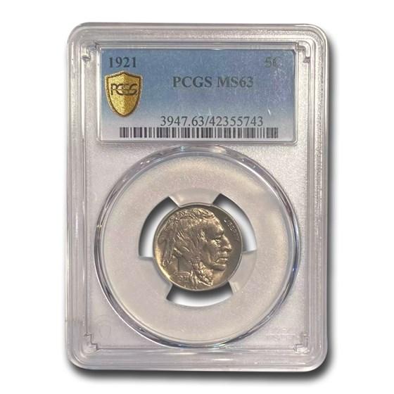 1921 Buffalo Nickel MS-63 PCGS