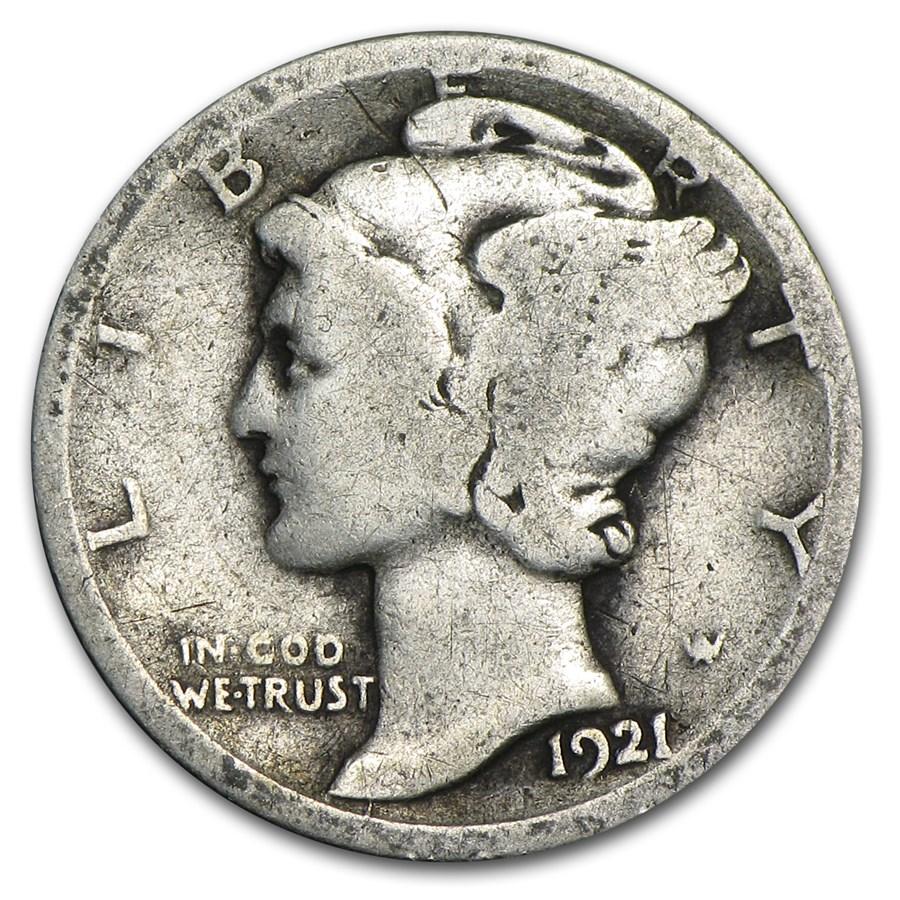 1921-D Mercury Dime Good