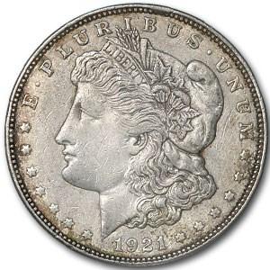 1921-D Morgan Dollar AU Details (VAM-1AQ, Rim Cud, Cleaned)