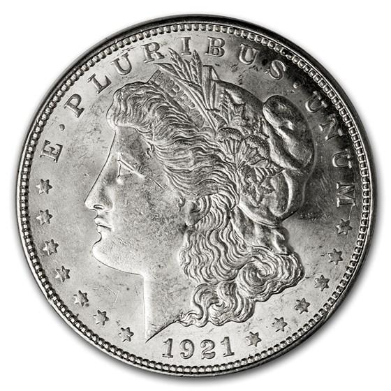 1921-D Morgan Dollar AU