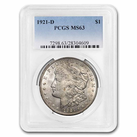 1921-D Morgan Dollar MS-63 PCGS