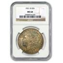 1921-D Morgan Dollar MS-64 NGC (Toned)