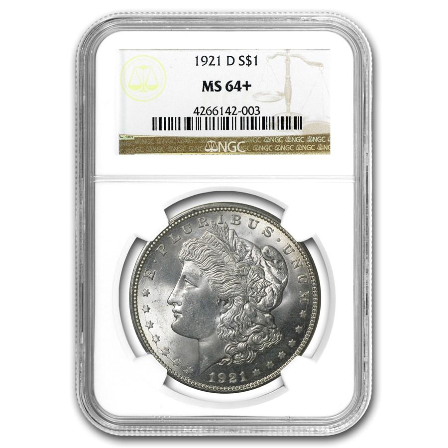 1921-D Morgan Dollar MS-64+ NGC
