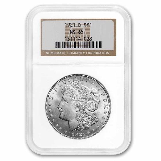 1921-D Morgan Dollar MS-65 NGC