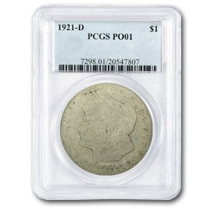 1921-D Morgan Dollar Poor-1 PCGS (Low Ball Registry Coin)