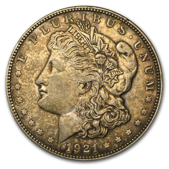 1921-D Morgan Dollar XF-45 (VAM-1A, In God We Tru-t, Top-100)