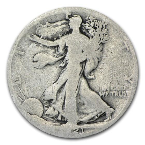 1921-D Walking Liberty Half Dollar AG