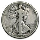 1921-D Walking Liberty Half Dollar VG