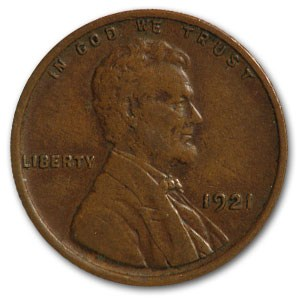 1921 Lincoln Cent XF