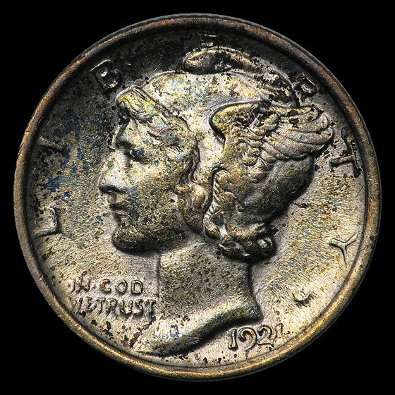 1921 Mercury Dime AU