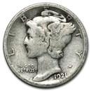 1921 Mercury Dime Good Details
