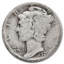1921 Mercury Dime Good