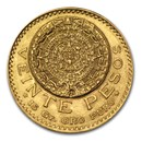 1921 Mexico Gold 20 Pesos AU