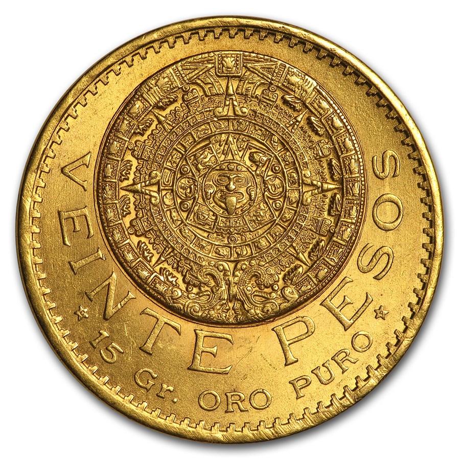 1921 Mexico Gold 20 Pesos BU