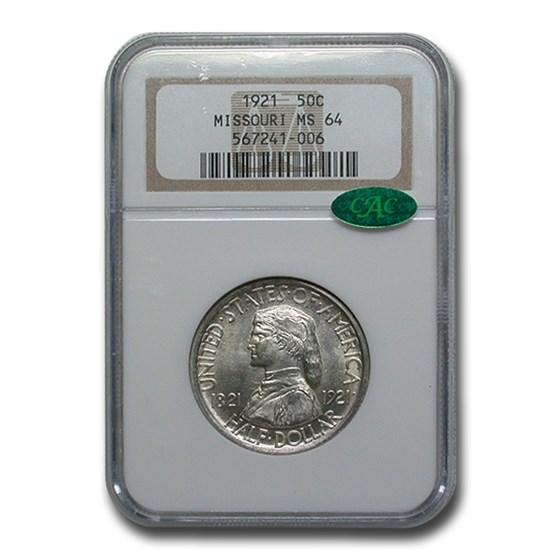 1921 Missouri Centennial Half Dollar MS-64 NGC CAC