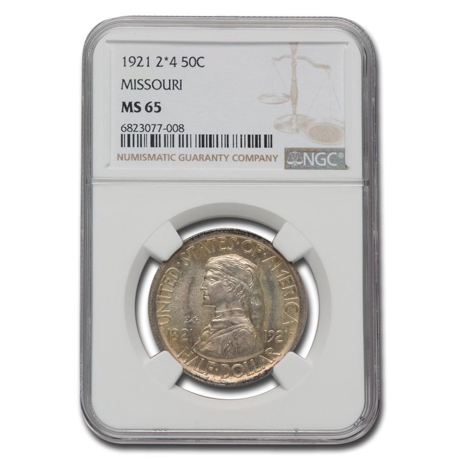 1921 Missouri Centennial Half Dollar MS-65 NGC (2x4)
