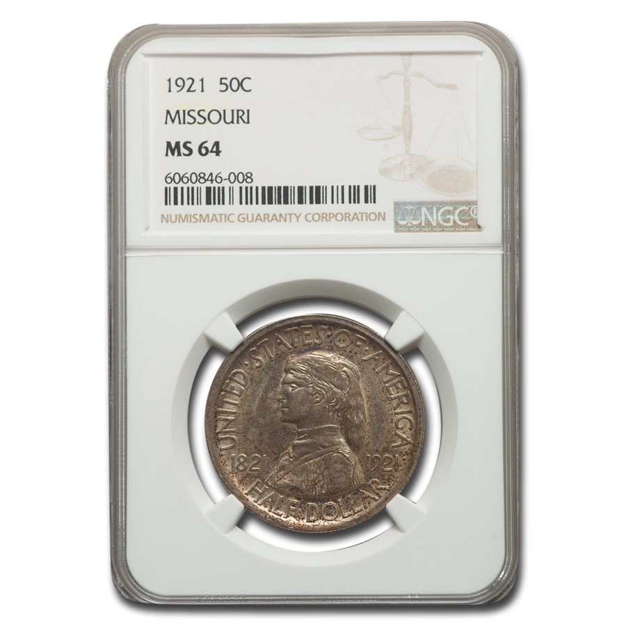 1921 Missouri Half Dollar Centennial Commem MS-64 NGC