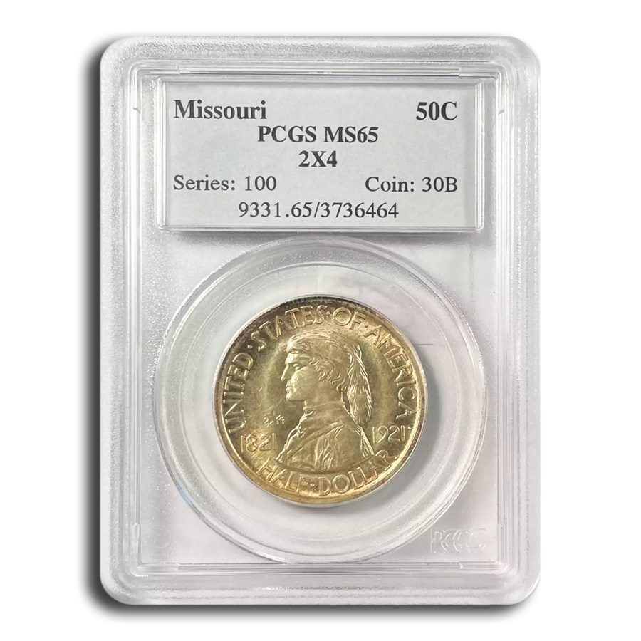 1921 Missouri Half Dollar MS-65 PCGS (2x4)