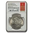 1921 Morgan Dollar MS-64 NGC (Mint Error Struck 10% Off Center)