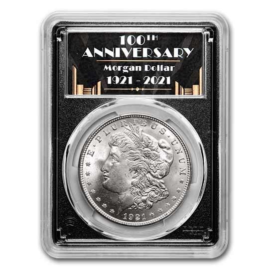 1921 Morgan Dollar MS-64 PCGS (100th Anniversary Label)