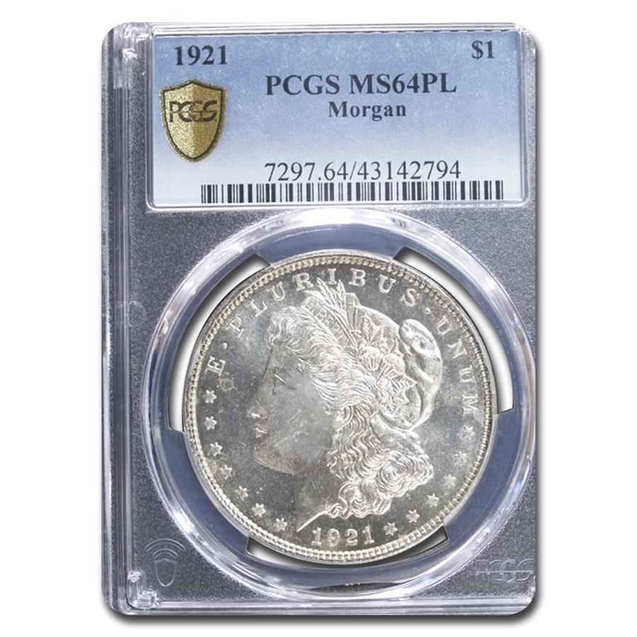 1921 Morgan Dollar MS-64 PCGS (Proof Like)