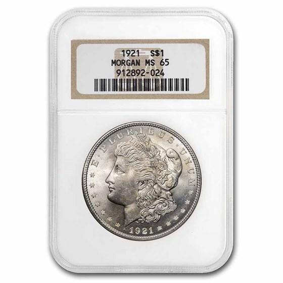1921 Morgan Dollar MS-65 NGC