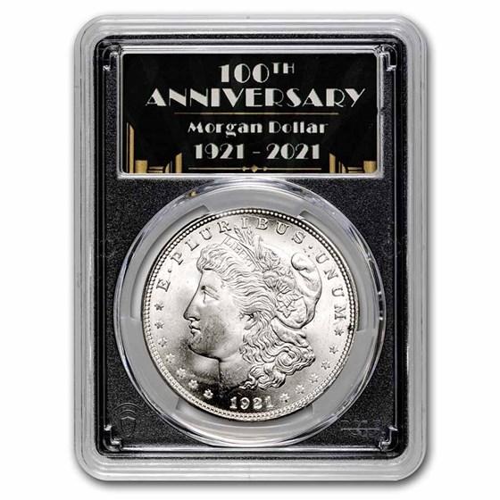 1921 Morgan Dollar MS-65+ PCGS (100th Anniversary Label)