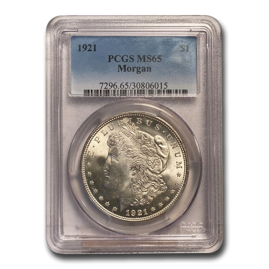 1921 Morgan Dollar MS-65 PCGS